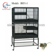 large metal mouse breeding cage with stand