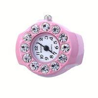Wholesale 2016 diamond rhinestone ring finger watches quartz watch for women gifts