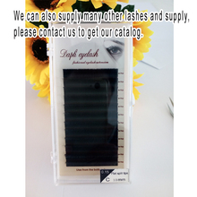 Quality Assured 0.15mm matte black ellipse flat split tips shape false lashes individual eyelash extensions