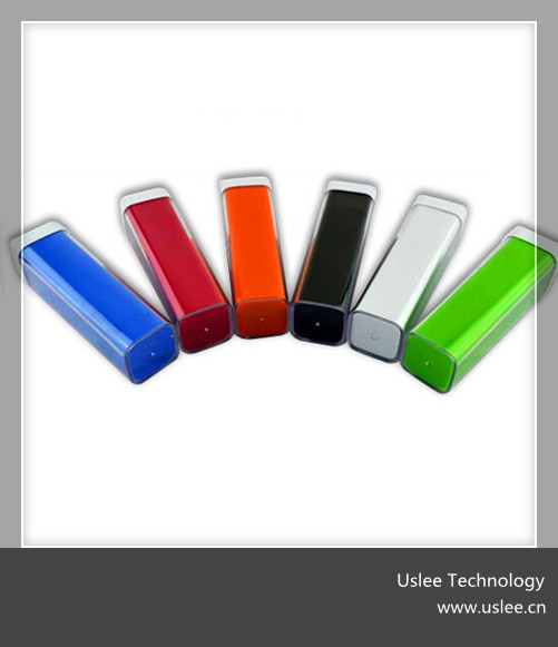 high quality portable power bank 2600mah power bank with built in cable new product