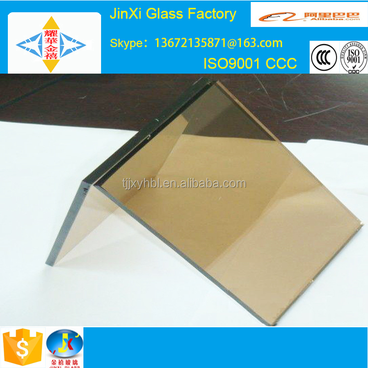 reflective glass wall mirrors/golden reflective float glass