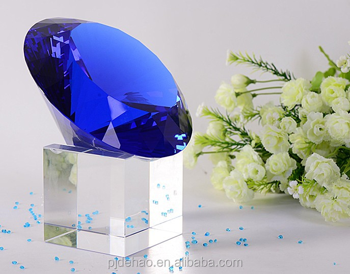 Pujiang Factory Fashion Top Quality Blue K9 Crystal Diamond