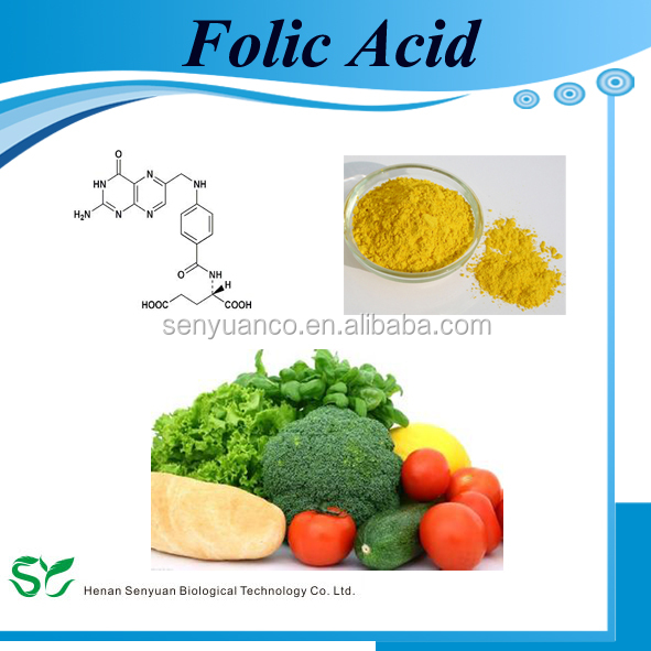 Folic Acid Vitamin B9 powder Food/Feed/Pharma Grade