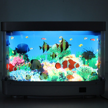 Best Christmas gift Moving Decoration LED Light for children Ocean Aquarium Picture Motion Moving Lamp Night Light