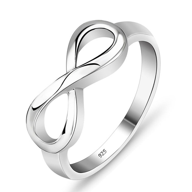Best Friend Gift High Quality 925 Sterling Silver Infinity Ring Endless Love Symbol Wholesale Fashion Rings For Women #SI1137