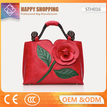 New brand 2017 leather ladies hand bag with multiple Colour