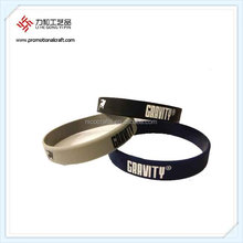 Silicone Sport Team Bracelet With Logo Metal Clasp