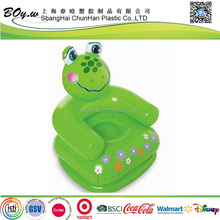 ICTI Factory safety popular lovely small pvc children anima chair inflatable kid frog sofa