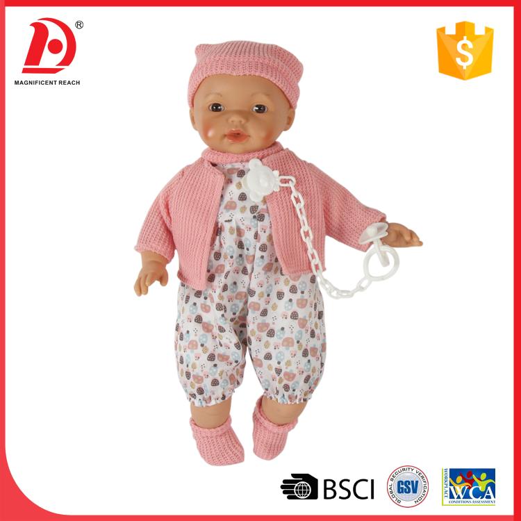 Born baby doll nighties baby reborn silicone pacifier doll
