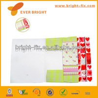 beautiful cardboard printed design elastic paper file folder