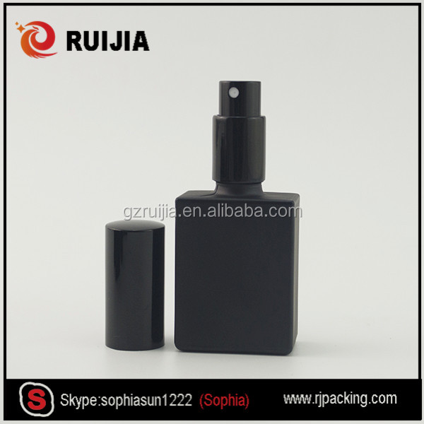 Cheap perfume frosted black wholesale childproof cap 30ml glass rectangular e liquid bottle
