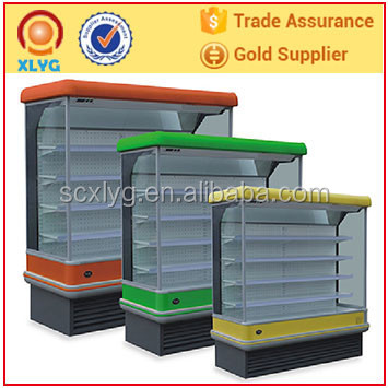 Open vertical multideck display showcase with air curtain/cooler fridge /chiller/ refrigerator equipment