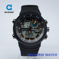 Alibaba high quality mens analog digital display thin rubber sport watch for wholesale