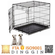 Double doors puppies wire mesh dog kennel