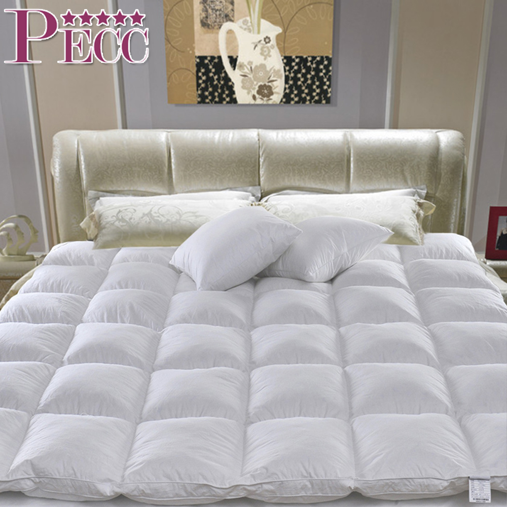 China Cheap Natural Cotton Simple Hotel Quilted Mattress Topper Pad