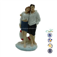 new polyresin romantic seaside love wedding couple statue figurine gift