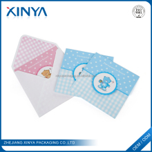 XINYA Wholesale Customized Design Message Folding Gift Paper Greeting Card With Envelope