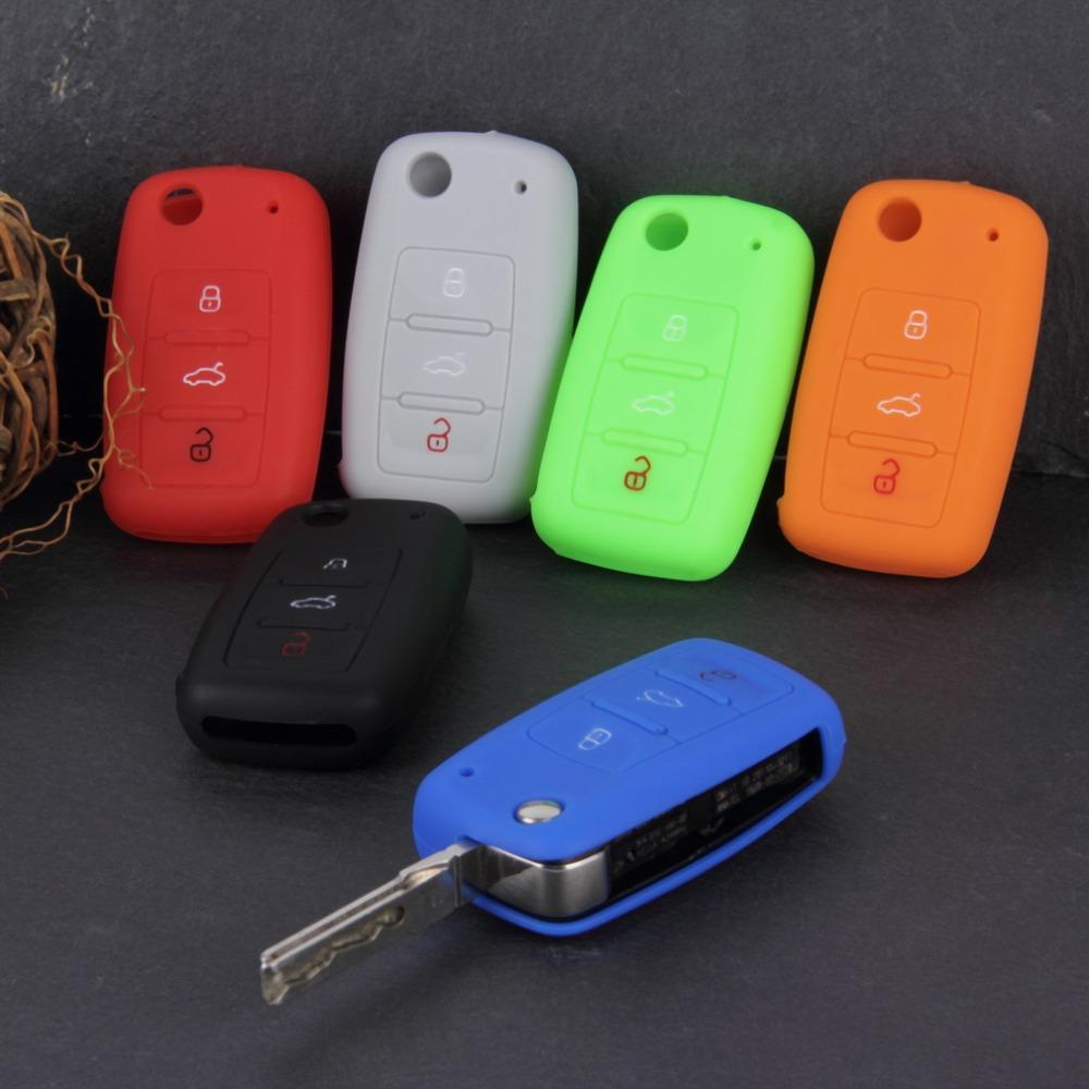 Universal Silicone Car Key Holder Case Cover Candy Color Turma do Chaves Case Car Accessories