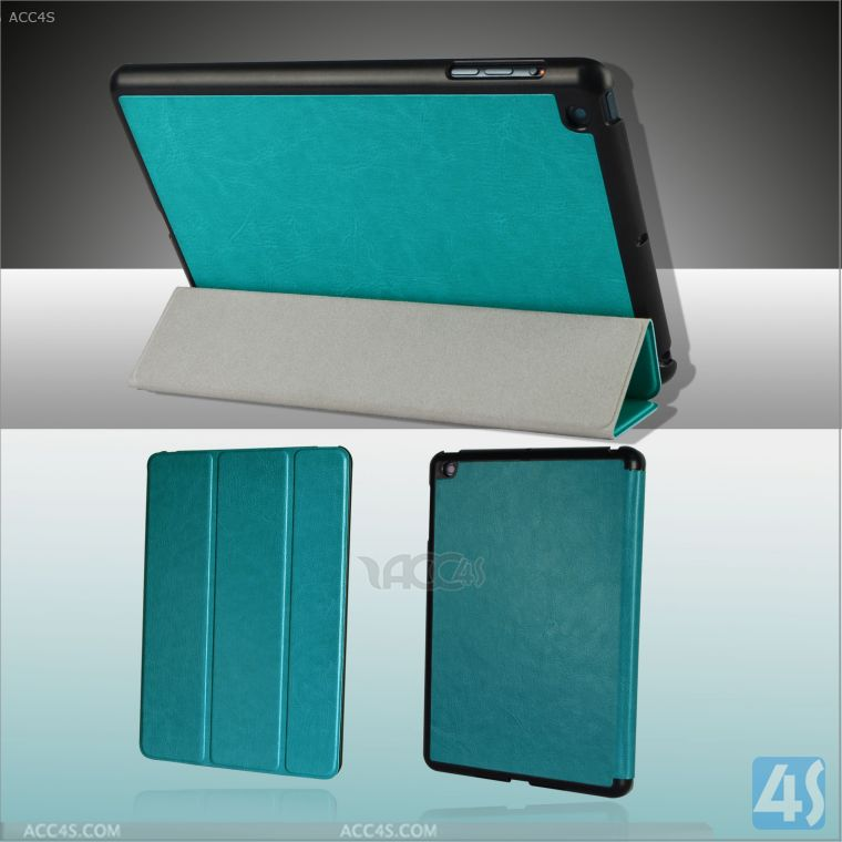 China manufacturer voltage press 3 folding stand pu leather case for ipad mini