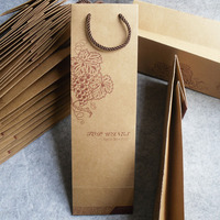 Personalized kraft paper wine gift,cheap wine gift bags