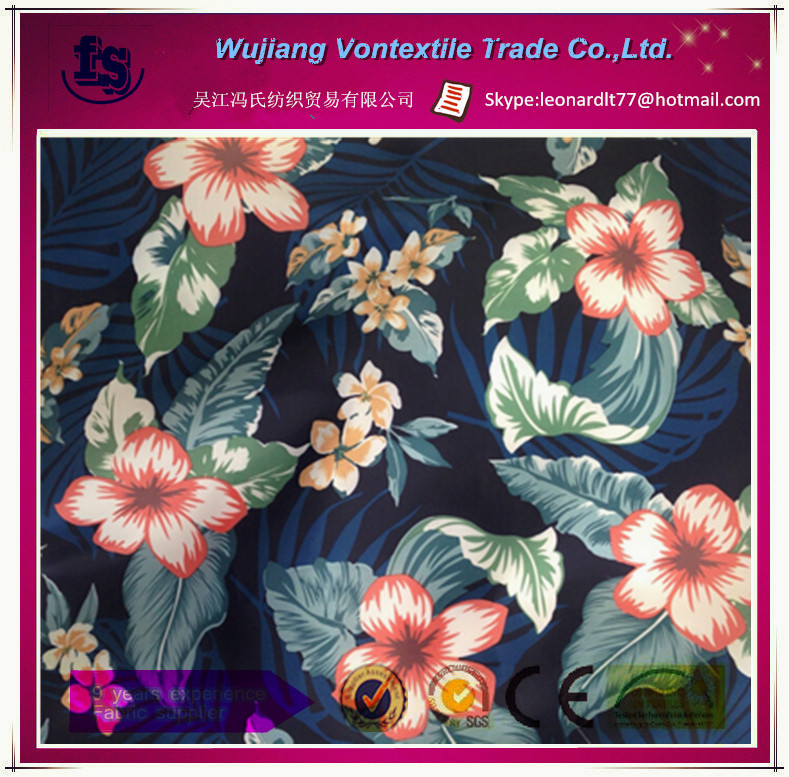 custom 100% polyester printed 210T taffeta fabric for garments,lining,bags,dress,home textile,etc