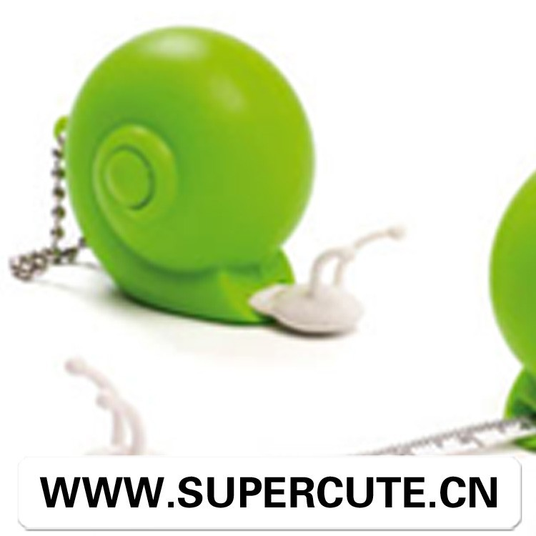 Portable Cute Creative ABS Green color snail design funny tape <strong>measure</strong>