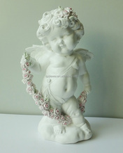 New white cupid figurines promotional resin cherub angel statues wholesale