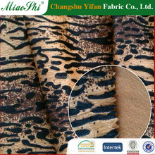 100% Polyester Short Hair Velour Knitting Fabric With Deer Skin Pattern