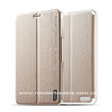 3-folding Ultrathin Stand Flip Silk Texture Leather Case for Huawei Glory X1 MT-2023