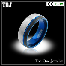 TP090 Fashion tungsten 8mm ring Men's Ring Brand Black Custom Carbide Ring For Men