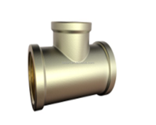 S6534 Brass tee 3 way BSP threaded pipe copper Fitting
