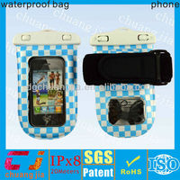 pvc waterproof cell phone pouch for samsung galaxy s4