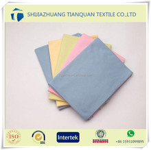 Hot Selling Plain Woven Fabric Cotton dyed Flannel Fabric cleaning cloth flannel yards fabric