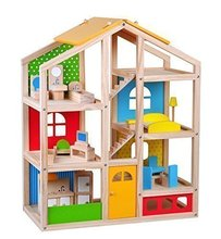 Wooden Doll house Kids Pretend Play toy Wooden Play house Sets For Kids