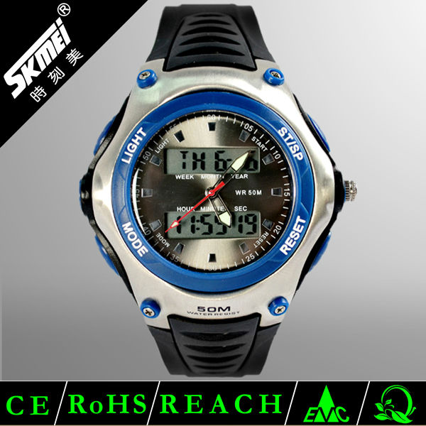 Top fashion cheap watches stopwatch plastic digital watch