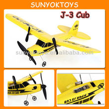 J-3 Cub Model,2CH Rc Airplane With Gyro; toy airplanes for sale