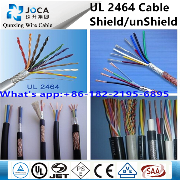Flexible 9 core/10 core 26awg/28awg UL 2464 cable Shielded cable UL 2464 wire