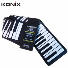 China Konix MIDI Roll Up Piano 88 Keys Silicone Hand Roll Up Electronic Piano for Sale