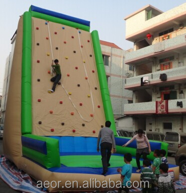 2015 AEOR New design playground equipment/rock climbing wall/used rock climbing wall