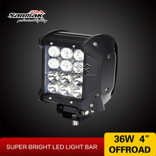 High Quality 36W Car Truck Boat Light Bar 4WD 4X4 ATV Headlight 12v led boat lights led barlights quad