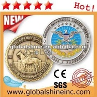high quality die casting gold plated metal coin