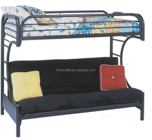 C style bedroom furniture sofa double deck bed triple metal bunk bed parts