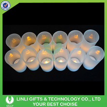Flameless Rechargeable With Frosted Holders LED Candle Light Supplier