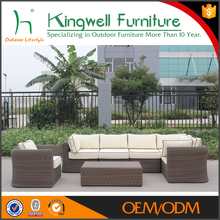 Brand new oval wicker outdoor lounge sofa garden furniture set