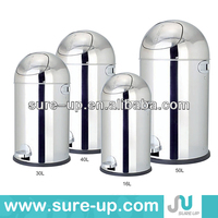 Hot sales stainless steel foot pedal dustbin garden garbage bins industrial waste bins for home and office