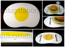New style simulation poached egg felt table mat