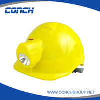 Inspection lamp rechargeable led industrial safety helmet 1W with visor mining light lamp