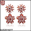 18KRGP Plated Copper Snow Flower Drop CZ Diamond Wedding Earrings