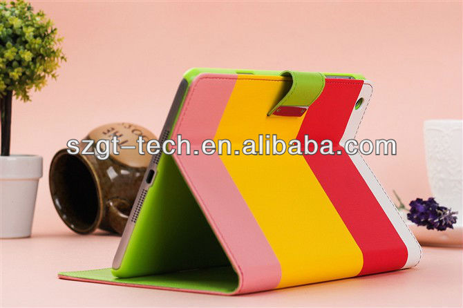 For iPad Mini Hybrid PU Leather Wallet Flip Pouch Stand Case Cover For Apple