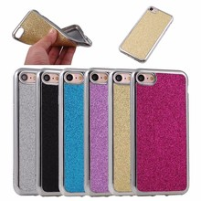 Bling bling soft TPU back case for iphone 7 plus , for iphone 7plus mobile cover